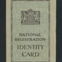 Eva A Haire's national registration identity card